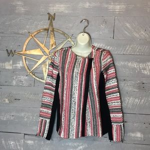 Chico's pattern mix textured cardigan sweater